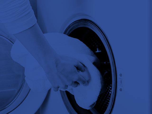 toallas en la lavadora