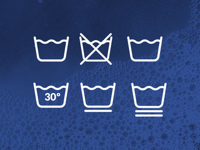 Clothes label symbols